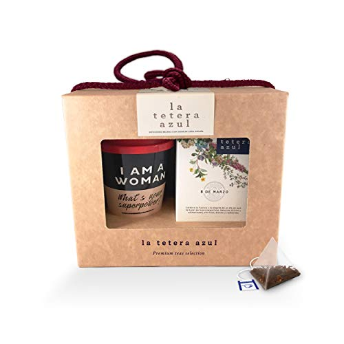 LA TETERA AZUL - Women's Collection Pack Regalo de Té 8 DE MARZO - Caja de regalo especial para mujeres