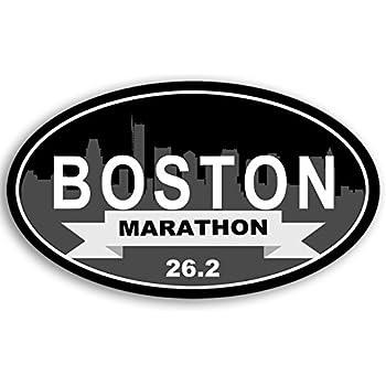 il Run Running Ran Race American Vinyl Oval Chicago Marathon 26.2 Sticker