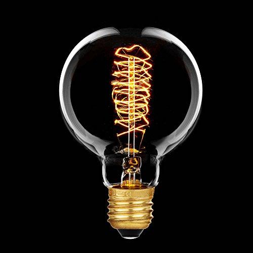 Rustika Globe Glühbirne G80 E27 Vielfachwendel Glühlampe klar 80mm -> 40 Watt