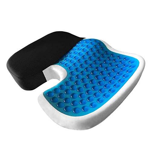 Cojín ortopédico del asiento Cojín Cojín extra grande Espuma de gel Sentado para el dolor de espalda, alivio de la ciática y el hueso de la cola para sillas de oficina y de cocina, sillas de ruedas, a