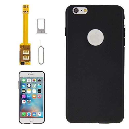 Ausgestattet Hüllen 4 in 1 (Dual-SIM-Karten-Adapter + TPU Case + Behälter-Halter + SIM Karten-Behälter-Halter stoßen Pin), for iPhones 6s Plus-Asun