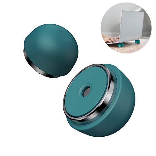 Laptop Cooling Pad, Nediea Ergonomic Laptop Stand Small Invisible Cooler Ball Portable Magnetic Foot Heat for Notebook/MacBook Pro/MacBook Air/iPad Pro/iPad Air/Surface/Tablets (Green)