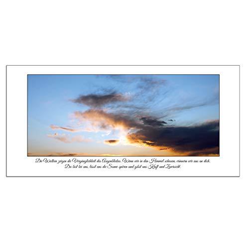 ArtCard X 5 Stück Trauerkarte, Kondolenzkarte 21 x 10,5 cm mit weißem Umschlag und Ausfüllanleitung (5 Stück)