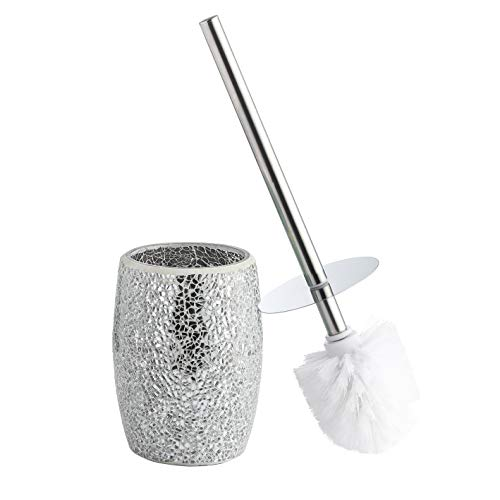 Whole Housewares Bathroom Accessories Toilet Brush Set - Toilet Bowl Cleaner Brush -