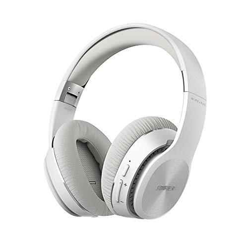 Edifier W820BT kabellose kopfhörer Bluetooth Over Ear– Faltbare, kabellos Headset Ohrhörer on Ear Headphones mit 80 Stunden Akkulaufzeit für Handys PS4 PC, in Weiß