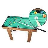 ZXQZ Piscina de Mesa, Mesa de Práctica de Billar de Juguete de Ocio Y Entretenimiento para Niños con 2 Tacos, 16 Bolas, Tiza Y Triángulo Mini mesas de Billar