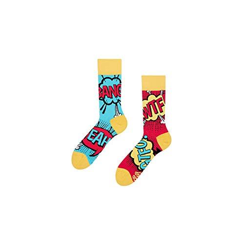 Good Mood Comics Buntes Design-Geschenk Socken 1 Paar, Mehrfarbig, UK9-12/EU43-46/US10-12