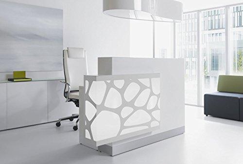Recepción mostrador Organic Blanco Recepción mostrador Oficina Recepción mostrador