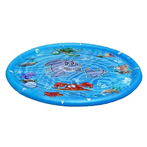 Homiki Mat Inflable de rociadores de pulverización de Agua para niños Mat 100cm Herramientas Redonda del Verano al Aire Libre Splash Game Pad Jardín