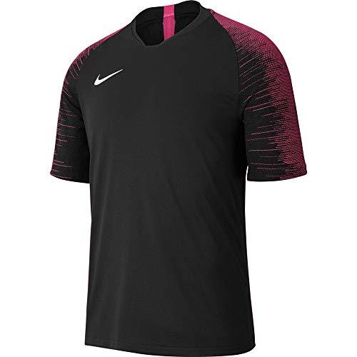 Nike Herren Strike Jersey SS Trikot, Black/Vivid pink/White, XL