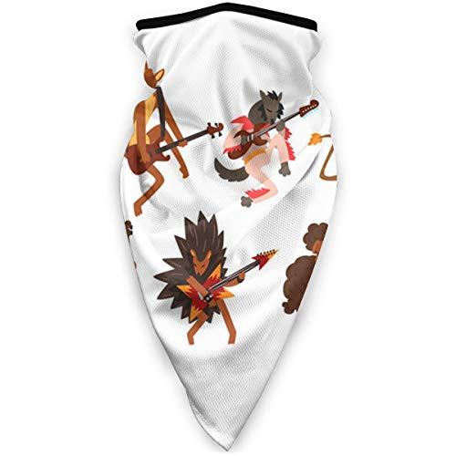 tyutrir Lustige Zeichentrickfilm-Wildtierfiguren, die Männer- und Frauengesichtsmasken-Turban im Freien staubdichtes winddichtes Sturmhaubenhuttuch-Sport-Sonnenschutzschal Spielen