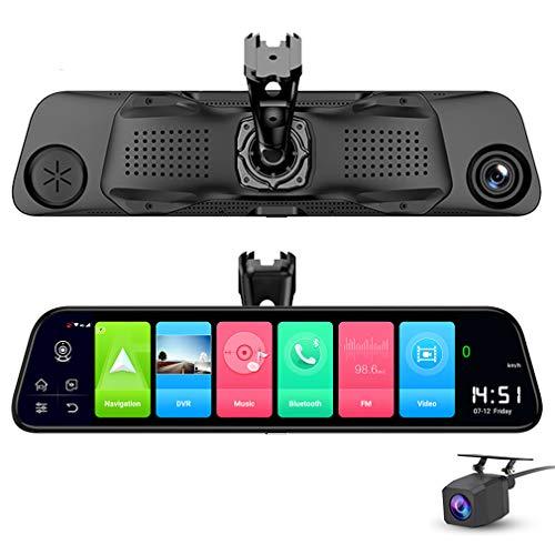 SZKJ D50A 30,5 cm Vollbildschirm 4G Touch IPS Spezial Auto Dashcam Rückansicht Android 8.1 Spiegel mit WiFi GPS Navi Bluetooth Musik Dual Lens FHD 1080P