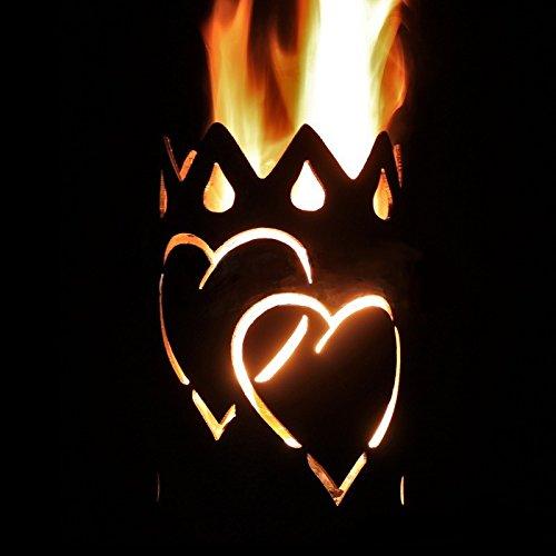 Herzen Fackel - Set mit Stiel und Brennmitteln