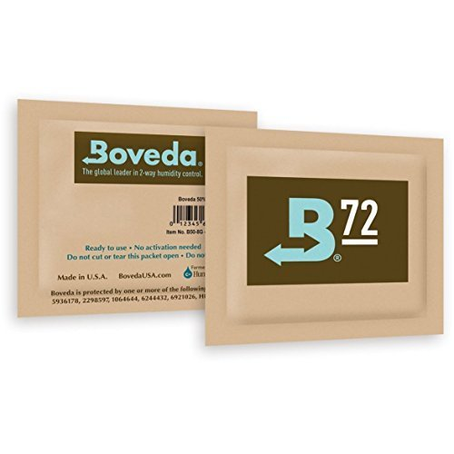 Boveda Humidipak 8 Gram (Medium) 10 Pack 2-Way Humidity Control 72{c69ccaab938cd18ece421b7fdb8f5173ee5721a1e2e0f31cefd8da23295dcbec} RH by