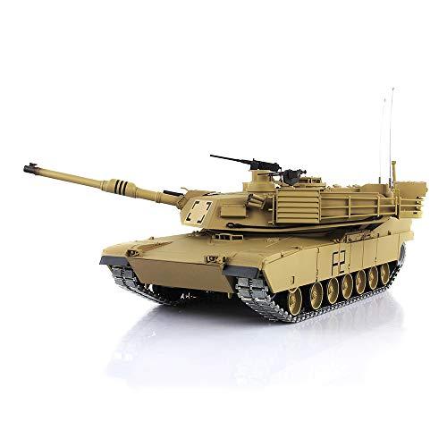 Henglong 1/16 6.0 Upgrade M1A2 Abrams RC Tank 3918 360° Turret Barrel Recoil Metal Tracks