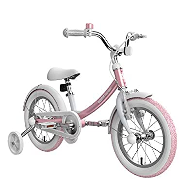 Segway Ninebot Kid's Bike for Boys and Girls, 14 inch with Training Wheels, Pink