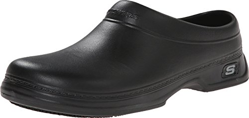 Men's Skechers Oswald - Balder Work Clogs BLACK 10 M