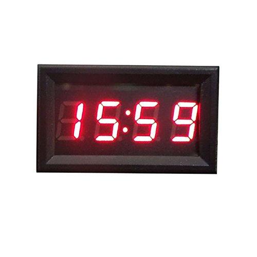 TONSEE Car Motorcycle Accessory 12V/24V Dashboard LED Display Digital Clock