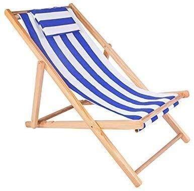 FTFTO Bureau Life Transats Chaise Longue Pliante extérieure en Bois Massif Chaise Longue Balcon extérieur Deux Styles (Couleur: B)