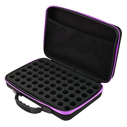 Okuyonic Estuche de Transporte de Aceite Duro Adecuado para Viajes(púrpura)