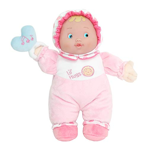 JC Toys Lil? Hugs Pink Soft Body - Your First Baby Doll - Designed by Berenguer - Ages 0+