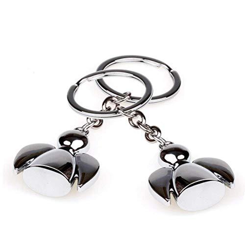SwirlColor Schutzengel Schlüsselanhänger Silber Sonnige Puppen Schlüsselbänder, mit Kostenlosem Organza-Geschenk-2pcs (2pcs Engel)