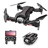 GsMeety GPS FPV Pliable Drone 4K Caméra Vidéo en Direct, WiFi Quadricoptère avec Altitude Hold, Headless Mode, Rotatif à 360 °, FPV Distant, Retour Intelligent