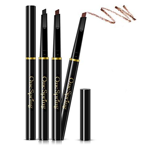 Scala New Automatic Eyebrow Pencil Sweat & Waterproof Eyebrow Pencil Pen Eye Brow Paint Makeup Cosmetics (Black)