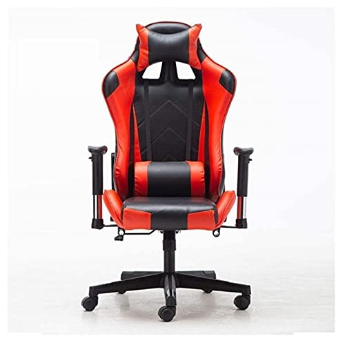KMDJ Boss Chair Can Lie Flat, Adjustable Game Seat, Headrest, Ergonomic Office Recliner with Footrest, High Backrest, Table with Lumbar Support Height