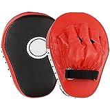 LVLUOKJ Almohadillas de Entrenamiento de Boxeo, patear el Anzuelo de la Plataforma & Jab Strike Pads Objetivo Mitt Glove para Entrenamiento de Enfoque de Karate Muaythai Kick Boxing UFC MMA