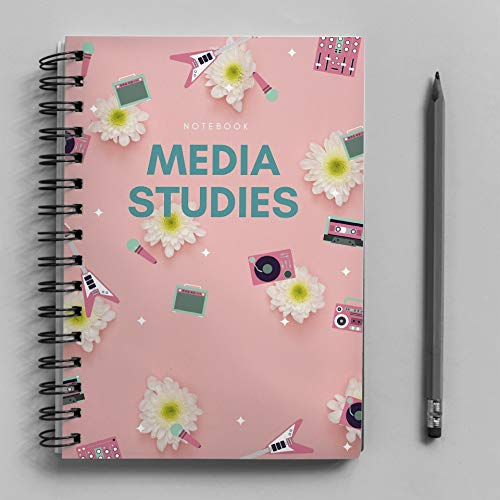 (No. 065) NOTEBOOK: A CLASSIC NOTEBOOK, A RETICLE NOTEBOOK FOR SUBJECTS IN MEDIA STUDIES.    PAPERBACK    6x9 INCH    200 PAGES THICK    (English Edition)