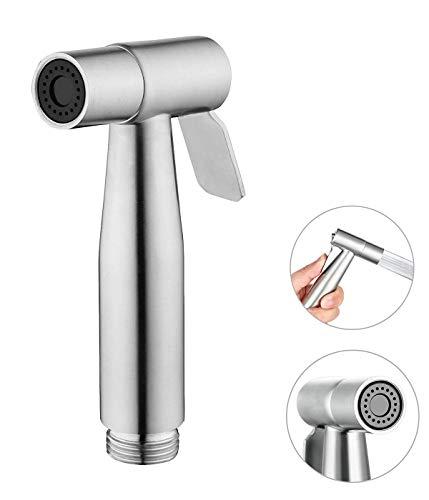 Bidet Handbrause-Toilette Adapte Waschen Edelstahl Duschkopf Bidet Windel Dusche Tierbad Wasserspar Wand waschen