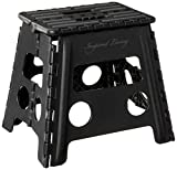 Inspired Living Step Heavy Duty folding-stools, 13' High, BLACK