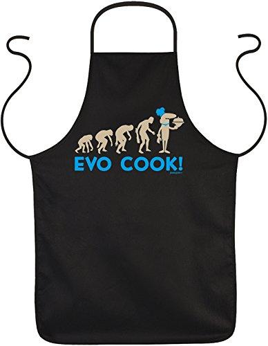 Grill-Spaß-Schürze/Fun-Koch/Grill-Schürze: Evo Cook! - Meisterköche/Fun-Schürze/lustige Sprüche