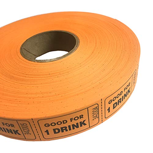 MUNCIE NOVELTY COMPANY Orange Good For One Drink Ticket Roll