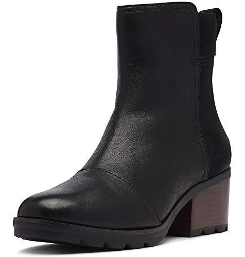 Sorel - Women's Cate Bootie Waterproof Ankle Boot with Stacked Heel, Black, 10 M US