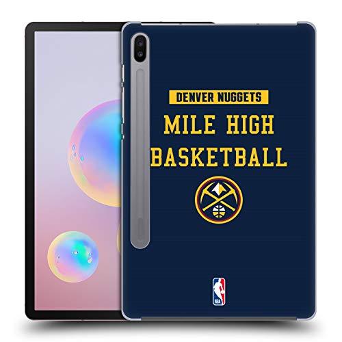 Head Case Designs Oficial NBA Nuggets Mile High Baloncesto Eslóganes del Equipo 2018/19 Carcasa rígida Compatible con Samsung Galaxy Tab S6 (2019)