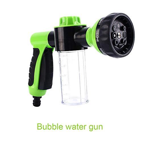Schaumpistole Gartenschlauch, Schaumsprühgerät zum Waschen von Autos, Multifunktions Schaumkanone für Gartenschläuche, tragbare Hochdruck Wasserwaschpistole zum Waschen von Autos
