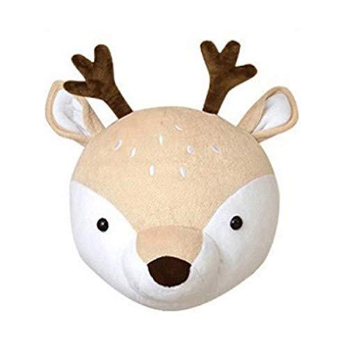 SH-RuiDu Lindo animal cabeza colgante decoración de la pared de peluche juguete de peluche decoración del cuarto de guardería