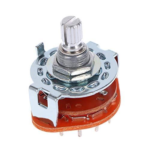 HEALLILY 3 Pole 4 Position Gitarrenverstärker Audio Lampe Drehschalter Auswahlschalter für Gitarrenzubehör