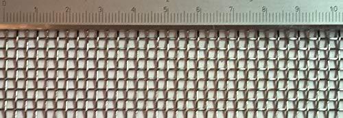 Edelstahl Drahtgewebe mit 2,5 mm Maschenweite, 0,7 mm Drahtstärke. 1m x 50cm