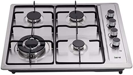 Deli kit 24 Inch Gas Cooktop Dual Fuel Sealed 4 Burners Stainless Steel Gas Cooktop Drop In product image