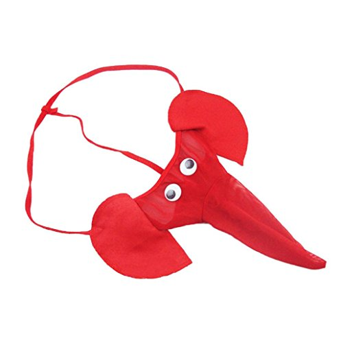 LUCKDE Elefanten Tanga, Boxershorts Herren Low Rise Trunk Herren String Tanga Sexy Slips MäNner Unterhosen Männer Herren Shorts Kurz Bauchweg Strumpfhose (Freie Größe, Rot)