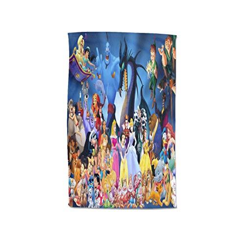 Large Puzzle Disney Character - Juego de turbante para el pelo, microfibra suave, portátil, para spa, ducha, baño, sin tirantes, para cubrir la toalla de baño