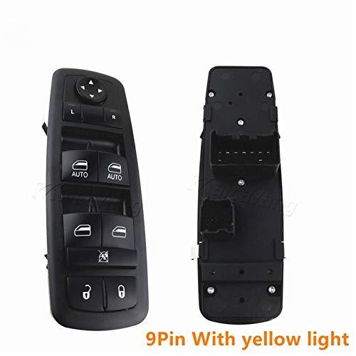 Controlador de interruptor de ventana 4602863AB 4602863AC 4602863AD LHD Elevalunas eléctrico Master Elevador Interruptor de control Panel de botón para Dodge Ram 2009-2012 (9 pines)