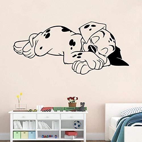 Cartoon Tier Niedlichen Welpen Wandaufkleber Tapete Aufkleber Cartoon101Treuen Hund Dalmatiner Kinderzimmer Zoohandlung57 * 26Cm
