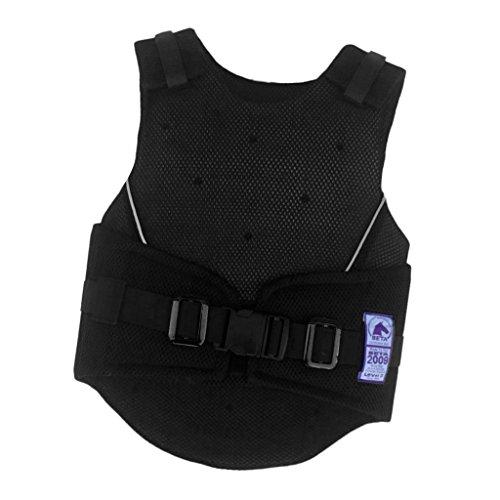 F Fityle Chaleco Protector para Montar a Caballo, Resistente a Los Impactos, Transpirable para Niños, Chaleco Protector, Transpirable Y Ajustable