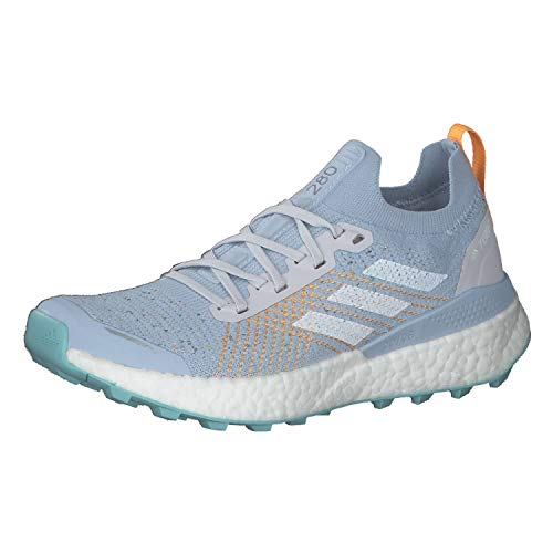 adidas Damen Terrex Two Ultra Parley W Leichtathletik-Schuh, Dash Grey/FTWR White/Blue Spirit, 39 1/3 EU