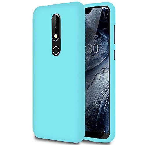 Cover Resistente per Nokia 6.1 (2018) | Turchese | Protezione Antiurto Integrale