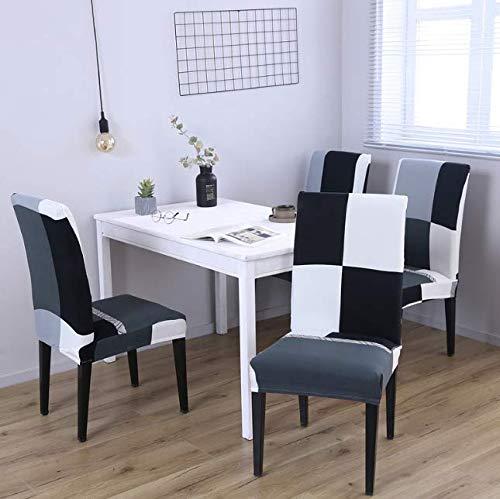 VYEKL Stuhlabdeckung Günstige Stretch Stuhlhussen Große Elastische Sitzbezüge Für Esszimmer Hotel Bankett Sofa Werfen 4 Stücke